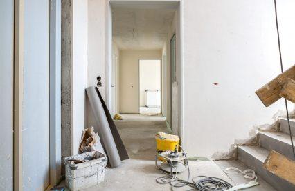 Baustelle Neubau Innenaufnahme